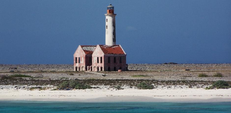 Lighthouse on Curacao Beach
