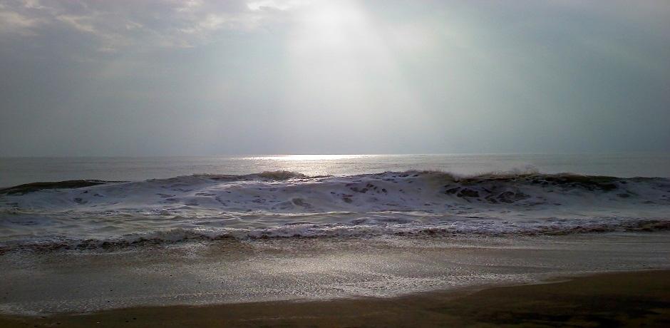 Morning Walk on Dewey Beach, 2009